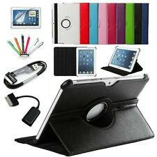 7in1 PU Leather Case Cover 360 Rotating+ OTG USB Samsung Galaxy Tab Smart Tablet