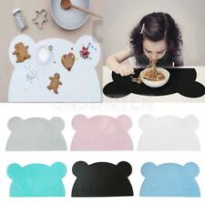 Creative Bear Shape Insulation Kitchen Placemat Baby Kid Food Table Pad