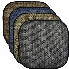 Memory Foam Chair Pad/Seat Cushion with Non-Slip Backing 16x16