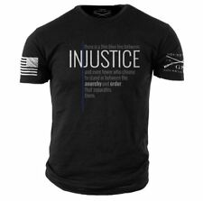 Thin Blue Line T-Shirt- Grunt Style Men's Graphic LEO Tee Shirt