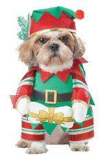 Elf Christmas Puppy Cute Pet Dog Costume California Costumes USA Seller