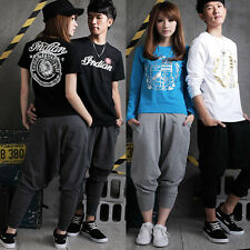 Men Women Casual Long Pants Hip Hop Harem Pants Drop Crotch Trousers Sweatpants