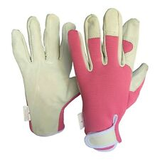 Ladies Leather Garden Gloves - Perfect Work Gloves / Gardening Gloves for Women