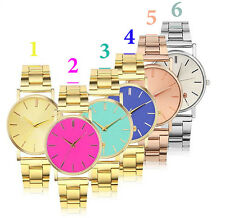 Fashion Metal Dial Women Quartz Watch Casual Unisex Wrist Watch