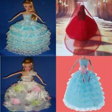 Handmade Wedding Dress Party Gown Clothes for Barbie Doll Gorgeous Xmas Gifts
