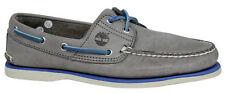 Timberland 2-Eye Leather Lace Up Boat Shoe Mens Grey A16KC T1