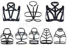 Women's Elastic Strappy Body Harness Sexy Caged Bralette Cupless Bra Crop Top