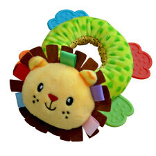 Cute Baby Infant Plush Rattle w/ Teether Teething Soft Animal Toy Development