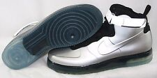 NEW Mens NIKE Air Force 1 Foamposite 415419 002 Silver Sneakers Shoes DISPLAY