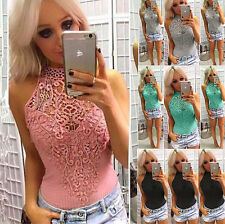 Fashion Women Summer Lace Vest Tops Sleeveless Shirt Blouse Casual Tank T-Shirt
