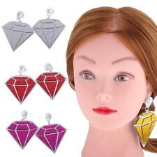 Acrylic Crystal Diamond Shape Women Wedding Party Elegant Studs Dangle Earrings