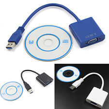 High Quality USB 3.0 to VGA Video Graphic Card Display External Cable Adapter ^
