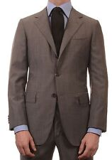 Sartoria PARTENOPEA Hand Made Gray Wool Super 140's Suit NEW