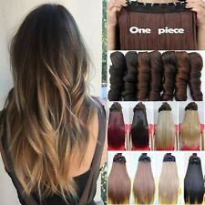 Real Thick 1Pcs Full Head Clip In Hair Extensions Real Natural As Human Colors