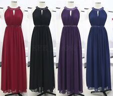 Long Women Evening Party Dress Cocktail Wedding Bridesmaid Sequin Dress SZ 8-20