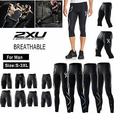 2XU Men Compression Tights Fitness Pants Running Sports Gym Cycling Sportwears