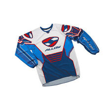 ALLOY MX MOTOCROSS JERSEY SHIRT 04 FUEL BLUE / WHITE / NAVY / RED patriot top