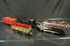 VINTAGE MARX TRAIN SET COMMODORE VANDERBILT LOCOMOTIVE TENDER BOX CARS CABOOSE