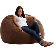 Large 4 Fuf Comfort Suede Bean Bag Chair, Multiple Colors