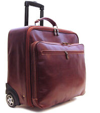 Floto Imports Luggage Monticello Rolling Laptop Briefcase, Italian Leather