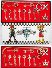 Kingdom Hearts 2 Keychain Keyblade Necklace Pendant Gift Box Collection 12pcs