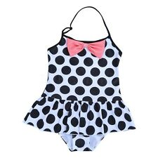 Girl Kid Toddler Polka Dot Swimwear Tankini Swimsuit Bikini Swim Costume Bathing