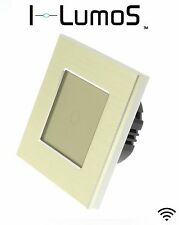 I LumoS Gold Aluminium Frame Touch, Dimmer, Remote & WIFI LED Light Switches