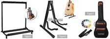 Electric Acoustic Guitar Gear Guitar Bass Rack & Bag Folding Stand Storage UTAR