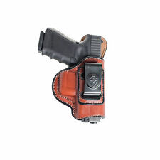 INSIDE THE WAISTBAND LEATHER HOLSTER FOR GLOCK 19, 23, 32. IWB HOLSTER W/ CLIP.
