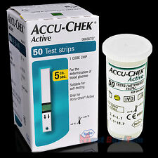 ROCHE Accu-Chek Active Diabetic Blood Sugar Glucose Meter 50 Test Strips 05/2018