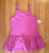 NWT Girl's Old Navy Pink Dress w/Ruffle Bottom - Sizes 12-18, 18-24 Months
