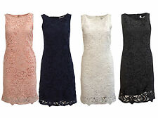 Wallis Lace Shift Dress Floral Scoop Neck Sleeveless Ladies NEW