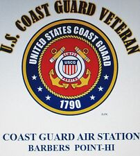 US COAST GUARD AIR STATION BARBERS POINT-HI*COAST GUARD VETERAN EMBLEM*SHIRT
