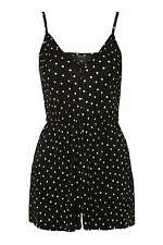 NEW TOPSHOP BLACK WHITE PLEATED POLKA DOT SPOT PLAYSUIT 6 to 16 RRP £32