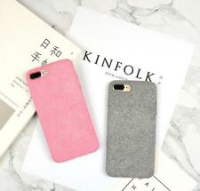 Simple Plush cloth Scrub phone shell soft Cover For iPhone 6 S 7 plus Case P598