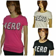Aeropostale Women's Juniors Short Sleeve Sequin Aero Graphic T-shirt New w/tags