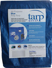 All-Purpose Blue Poly Tarp Tear and UV resistant - Storage, roofs,  All Sizes