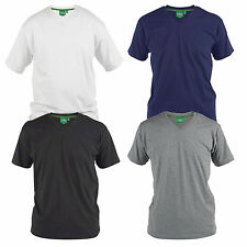 Duke D555 Mens King Size Big & Tall V-Neck Plain Cotton T-Shirt Tee Short Sleeve