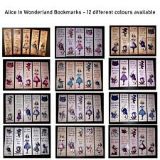 Alice in Wonderland Bookmarks - Can be personalised, Lovely gift idea *Punk*Goth
