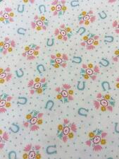 HOWDY COWGIRL MODA PINK / CREAM COTTON  QUILT FABRIC BY THE 1/2 YD #20554 11