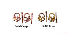 Solid Copper-Brass 22x18mm Leaf Toggle Clasp Findings • Q3 • You Pick Color