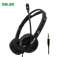 Salar V38 Adjustable 3.5mm Sport Headphone Game Gaming Headset Earphone With Mic