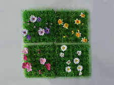 ASTRO TURF FOR FAIRY / HOBBIT GARDEN - CHOICE OF 3 WITH DIFFERENT FLOWERS - NEW