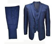 """MENS SLIM FIT FORMAL 3 PIECE TONIC BLUE SUIT(FORD),CHEST SIZE 40"""" TO 50"""", S/R/L"""