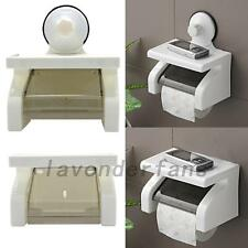 Waterproof Toilet Paper Holder Suction Cup Tissue Roll Stand Bathroom Rack Box