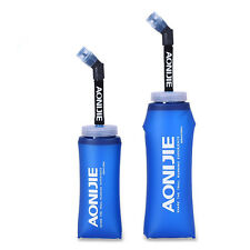 Running Sport Folding TPU Soft Flasks with Straw Bicycle Water Bottle, BPA Free