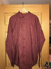 MAHARISHI MENS MHI S/S RED CHECK COTTON SHIRT SIZE XL!!
