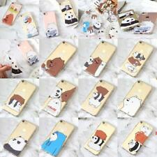 Cute bear Silicone soft Phone Case Cover For iPhone 6 S 7 plus Transparent P650