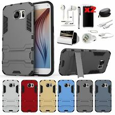 Case Cover+Charger+Earphones Accessory Samsung Galaxy S6 S7 Edge S8 S8+ Note 8