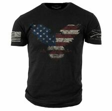 Freedom Eagle T-Shirt- Grunt Style Men's Black Tee Shirt